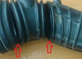 Как заклеить резиновый патрубок стиральной машины?