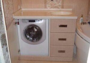 Как сделать короб для стиральной машины в ванной?