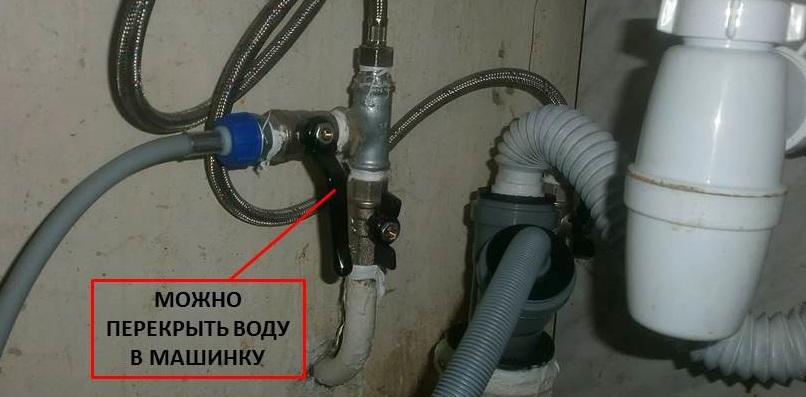 кран нужен чтобы перекрывать подачу воды в СМ