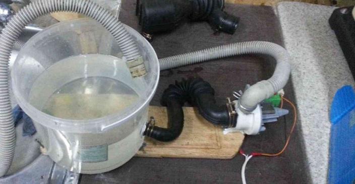 устройство для промывки из насоса