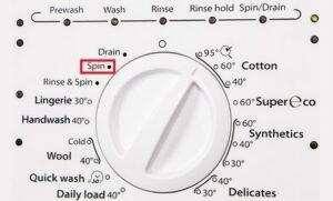 Как переводится Spin на стиральной машине