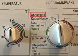 """Как переводится """"Abpumpen"""" на стиральной машине"""