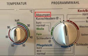Как переводится Abpumpen на стиральной машине