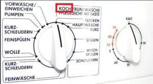 Как переводится Koch на стиральной машине