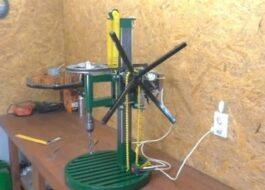 Как сделать сверлильный станок из двигателя от стиральной машины?