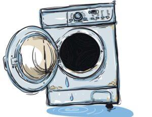 Течёт стиральная машина при полоскании