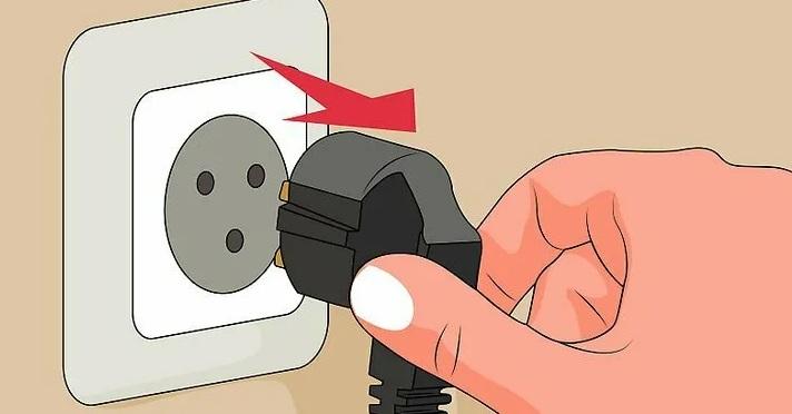 обесточьте стиральную машину