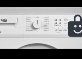 Блокировка от детей на стиральной машине Beko