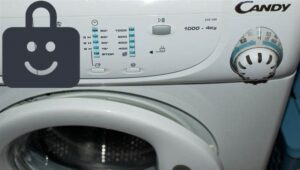 Блокировка от детей на стиральной машине Candy