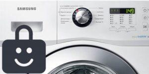 Блокировка от детей на стиральной машине Samsung