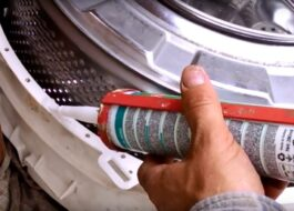 Каким герметиком склеить барабан стиральной машины?