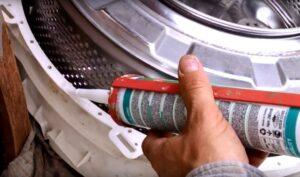 Каким герметиком склеить барабан стиральной машины