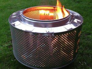Как сделать очаг из барабана стиральной машины?