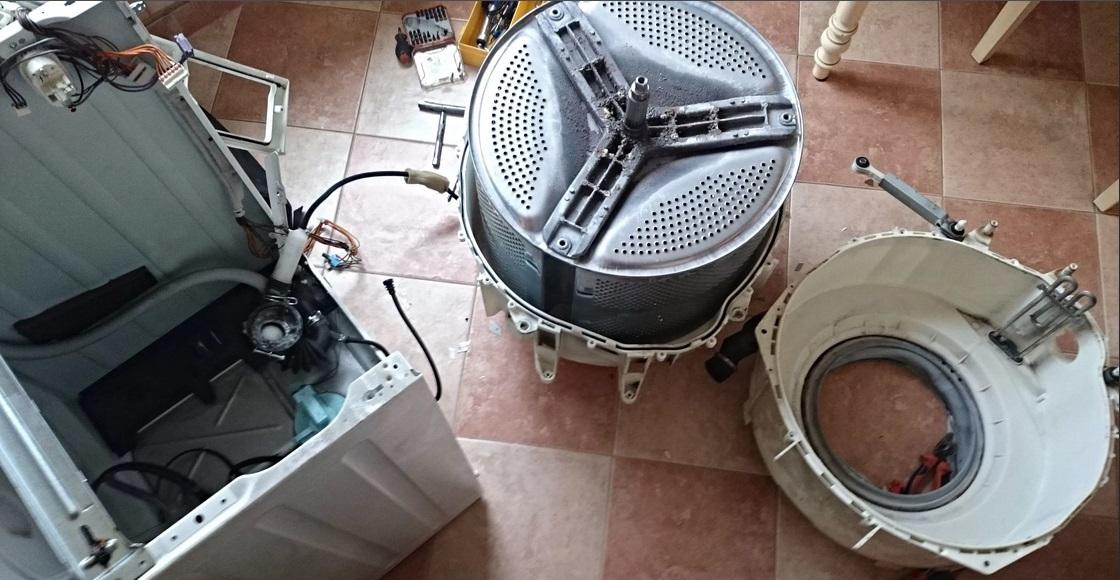 разбираем бак стиральной машины