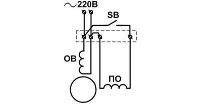 схема подключения однофазного асинхронного движка