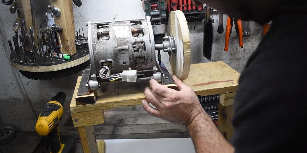 установка двигателя на станину