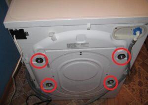 Где у стиральной машины LG транспортировочные болты