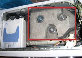 Из чего сделан противовес в стиральной машине?