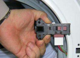Как снять замок стиральной машины Indesit?