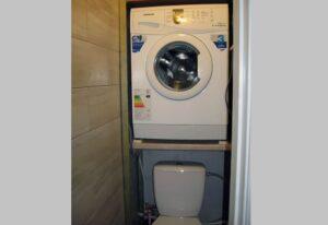 Размещение стиральной машины в туалете