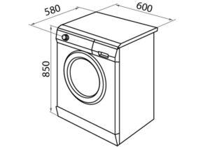 Стандартные габариты стиральной машины