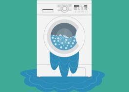 Почему стиральная машина LG течёт снизу при отжиме?