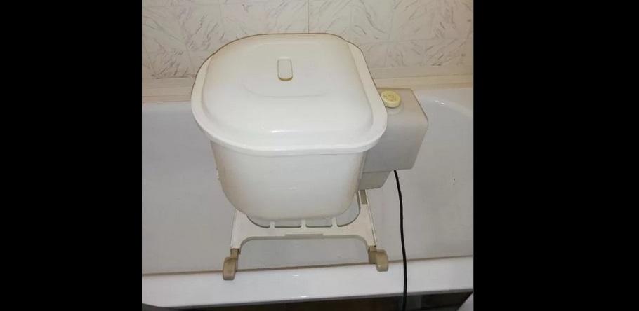 машинка полуавтомат в ванне