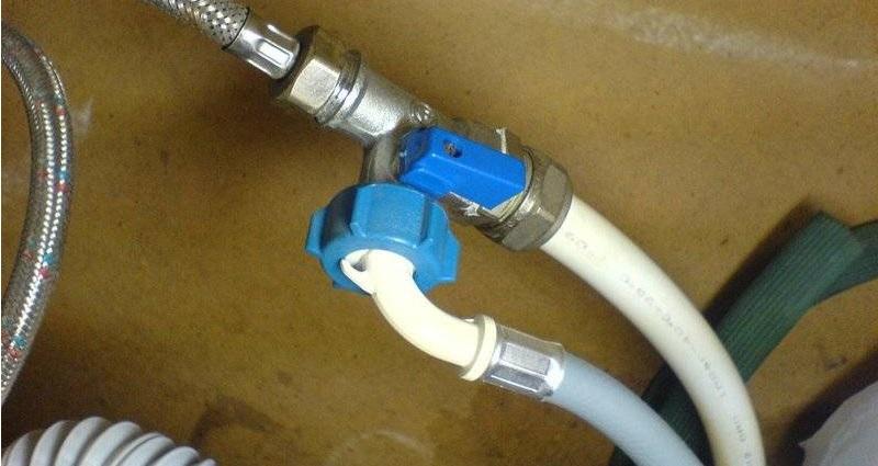 подключение машинки к водоснабжению