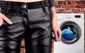 Как правильно стирать и гладить штаны из кожзама?