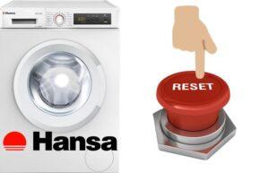 Перезагрузка стиральной машины Hansa