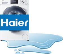 Протекает снизу стиральная машина Haier