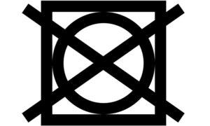 Знак Сушка в сушильной машине запрещена