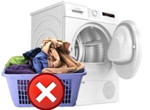 Какие вещи нельзя сушить в сушильной машине?
