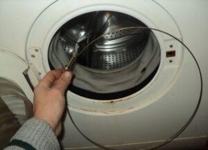 Как надеть пружину на барабан стиральной машины