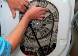Как одеть ремень на стиральной машинке Самсунг?