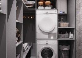 Можно ли установить сушильную машину в гардеробную?