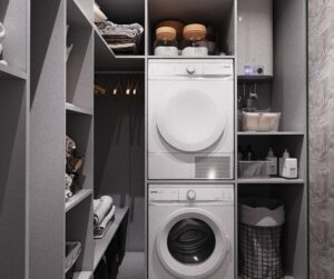 Можно ли установить сушильную машину в гардеробную