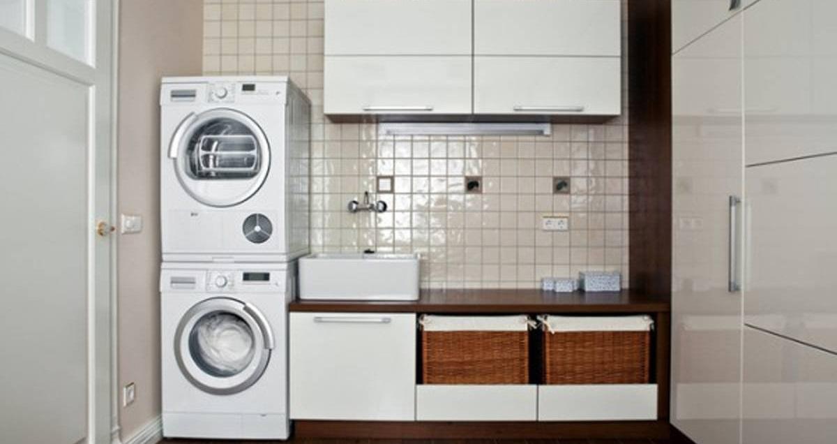 монтаж в колонну сушильной и стиральной машин
