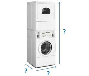 Габариты стиральной и сушильной машины в колонну
