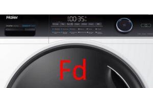 Код ошибки Fd в стиральных машинах Haier с сушкой