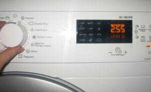 Перезагрузка стиральной машины Electrolux