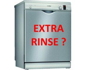 Функция Extra rinse в посудомоечной машине