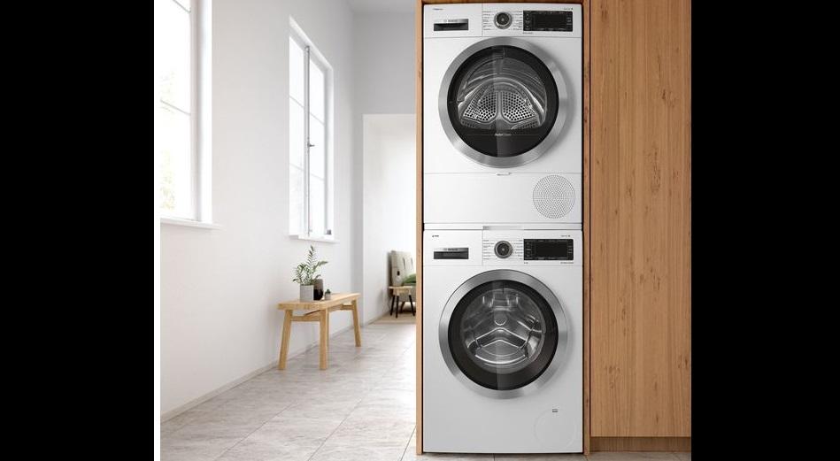 вариант размещения стиральной и сушильной машин Бош