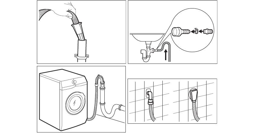 схемы подключения сушильной машины к канализации